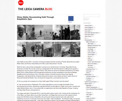 Leica Haiti Interview